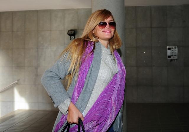 LA MODELO ESTHER CAÑADAS EN LOS JUZGADOS DE ESPLUGUES DE LLOBREGAT 15/01/2013